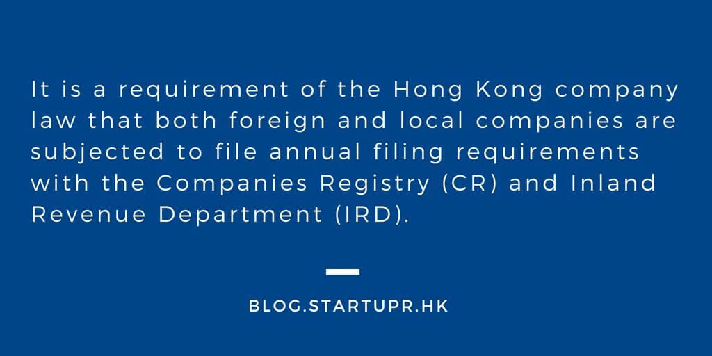 Annual Compliance Requirements for Hong Kong Companies