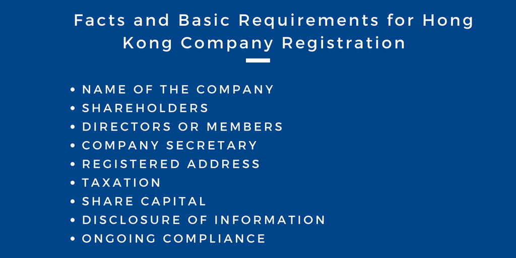Hong Kong Company Registration Requirements