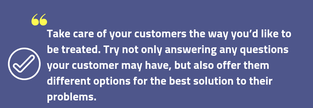 Customer services tip 3