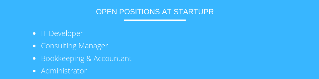 Open position at Startupr