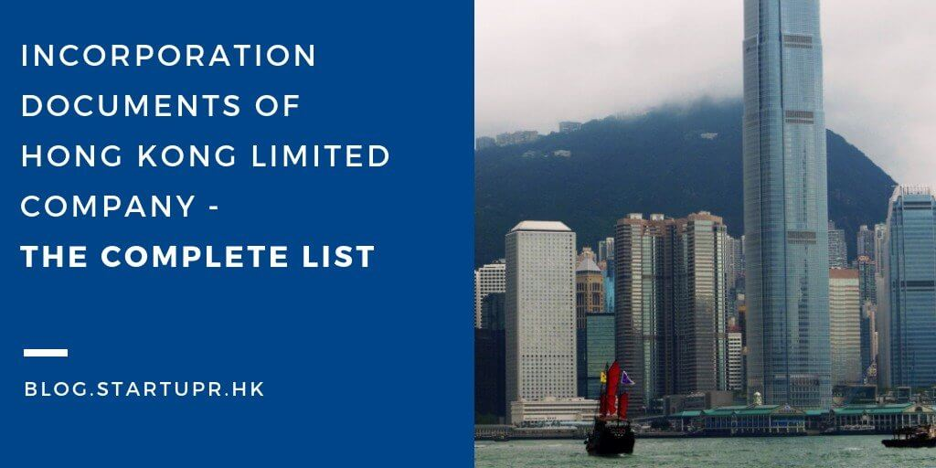 Incorporation Documents Hong Kong