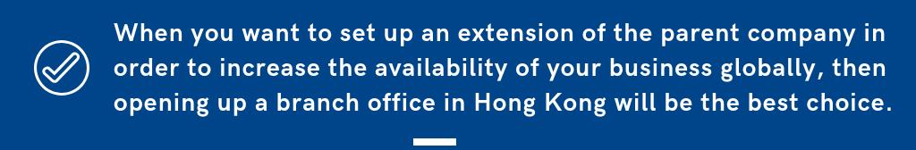Open branch office HK