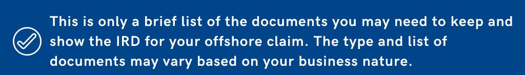 Offshore Claim