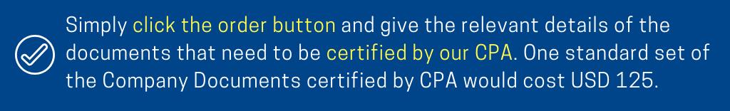 CPA Certified Documents Hong Kong Startupr